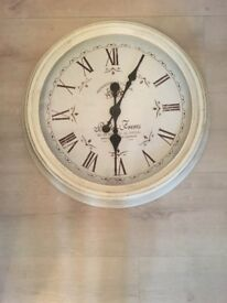 Cream/Gold wall clock