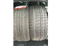 Mercedes Benz Set of 4 Cooper Winter Tyres with MB warranty 6mm thread left 225-45-17 and 245-45-17