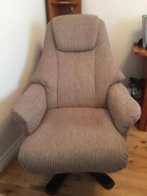 NEW Swivel Recliner Chair & Matching footstool