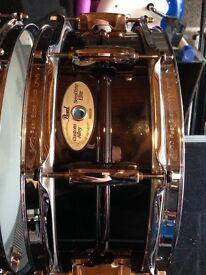 Pearl brass sensitone snare drum (reduced)
