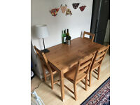 Dining Table and 4 Chairs - £75