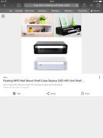 50cm Black Floating Shelf