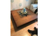 Large Brown wooden table 48 inches x 48
