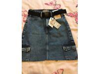 Girls denim skirt size 4 (xxsmall)
