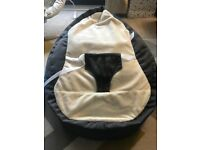 Gaga baby bean bag in charcoal