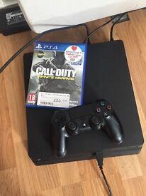 Black PS4 slim 500gb with COD infinite warfare(unboxed)
