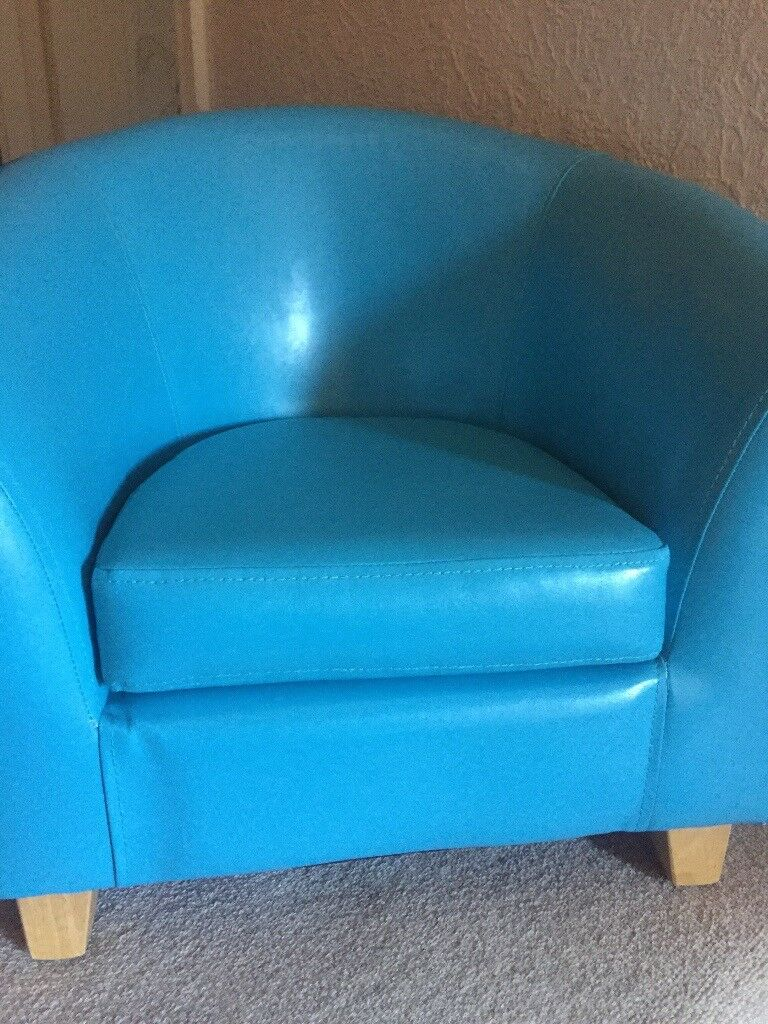 Children\'s blue tub chair and footstool | in Sale, Manchester | Gumtree