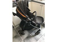 Graco Evo Xt pram/pushchair with footmuff, net & rain cover great condition