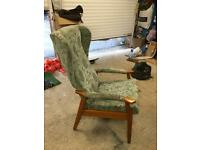 High back, house chair, lounge chair, used for 1 month so like New