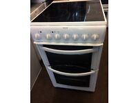 HOTPOINT ELECTRIC COOKER 50cm WIDE DOUBLE OVEN WITH GRILL FREE DELIVERY AND WARRANTY