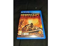 Resistance burning skies ps vita game
