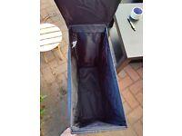 Black Ikea laundry basket