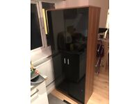Black gloss wardrobe excellent condition (can deliver)