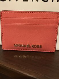 Michael Kors Jet Set Travel Leather Cardholder, Pink