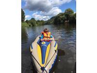 Intex challenger 1 small man inflatable canoe kayak