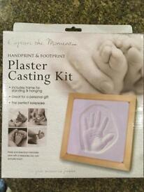 Baby/child plaster casting kit