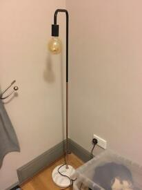 Copper and marble floor lamp & bedside light