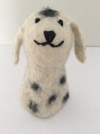 Dalmatian Dog felt Egg Cup Warmer/Finger Puppet/Display
