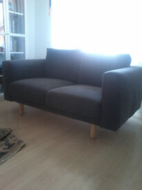 Grey two seat Norsborg sofa