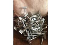 90 small slat wall hooks