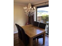 Extendable Dining Table + 4 Chairs