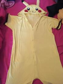 Pikachu onesie fits sizes 10-14