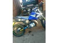 "DT125X, DT125R SM 2005, 06 Plate, 17"" Blue/Black Unrestricted"