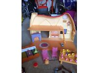 Disney Store Snow White cottage, furniture,accessories and Snow White doll