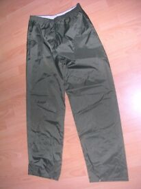 2 pairs of over trousers, suitable for teenager, never worn, can sell separate if required.