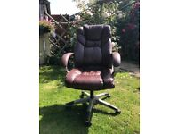 office chair - brown lovely soft leatherette covers