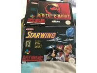 Snes boxed games
