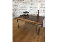 THICK RUSTIC COFFEE TABLE, BRAND NEW, HANDMADE