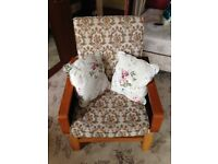 Retro Settee, hand made three piece settee , made early 1970's
