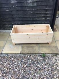 Extra large wooden planter