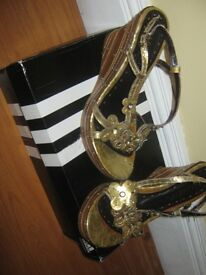 sandals size 38 (bought in Italy) never worn