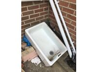 White Victorian sink basin