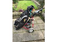 Powakaddy Freeway Electric Trolley and bag