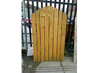 Wooden garden gates with hinges