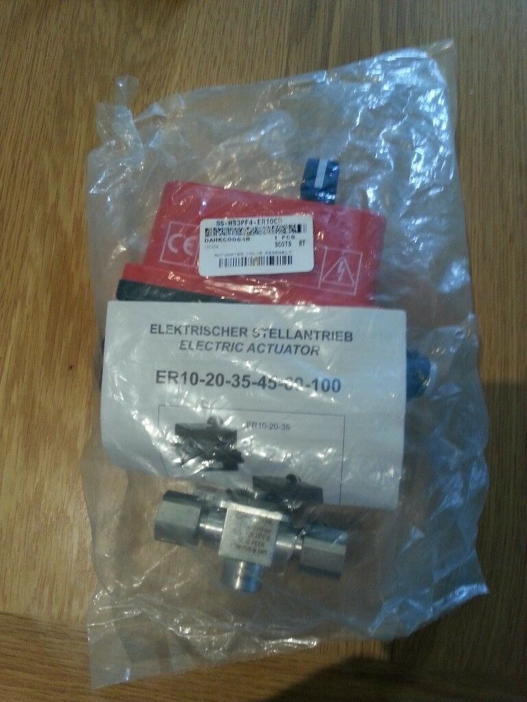 Brand new Swagelok electric actuated valve, 10,000PSI, Sealed in packaging