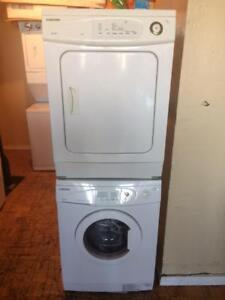 "24"" Samsung  spacesaver washer and dryer"