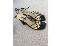 Ankle strap Black High heel shoe
