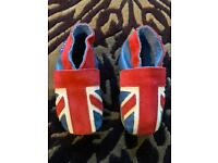 Inch Blue Leather Toddler Shoes