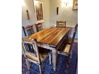 Solid Wood Dinning Table and 6 Chairs for sale