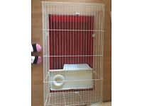2 month old rabbit cage. Not used much. From Pets at home. Originally £35. Want to sell for £15