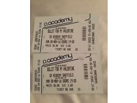 2 Tickets for Bullet for my Valentine 02 Academy Sheffield 28/11/2016