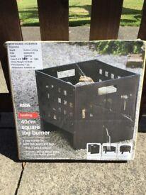 Square log/wood burner - new