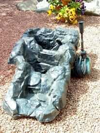 3 tier rockpool for garden pond plus pump and hoses