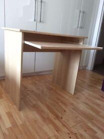 Computer Desk Excellent Condition White Oak Veneer