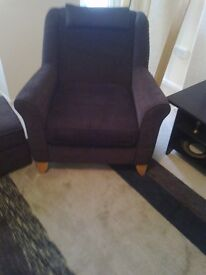 Armchair And Footrest With Storage