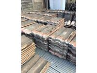 300 reclaimed Redlands roof tiles and 14 ridge tiles